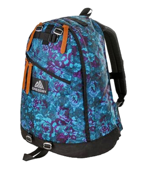 GREGORY 65174-0457 DAY PACK/BLUE TAPESTRY (NEW LOGO)