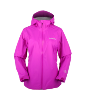 COLUMBIA 1562693 WOMEN'S EVAPOURATION JACKET/BRIGHT PLUM