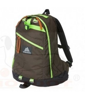 GREGORY 65169-4871 DAY PACK/DARK COFFEE X LIME(NEW LOGO)
