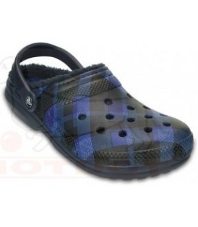CROCS 203592 CLASSIC FUZZ LINED GRAPHIC CLOG